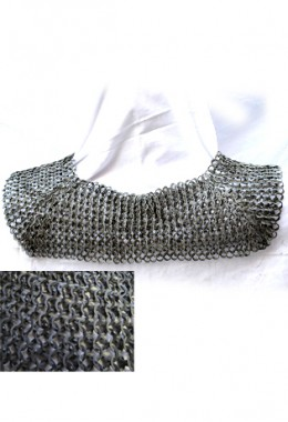 Chain neck protection - flat rings 6mm, fully riveted (wedge rivets)