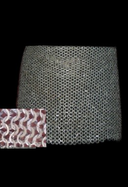 Skirt  - Flat Ring Wedge Riveted Chainmail with alterte Solid Rings