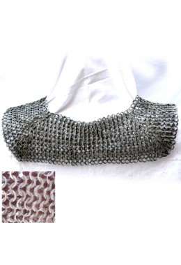 Standard/Chainmail Collar - Flat Ring Wedge Riveted Chainmail with alterte Solid Rings