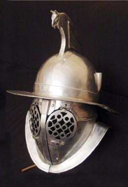 Thraex Helmet in 1.6 mm Tinned Steel