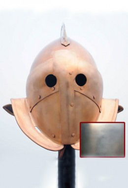 Secutor Helmet in 1.6 mm Tinned Steel