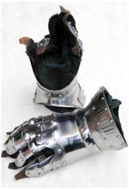 Churburg Gauntlets - 16 Gauge steel with Steel Decorations