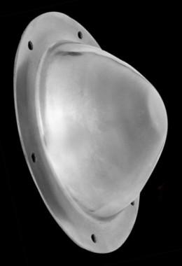 Shield buckle, 2 mm steel, with rivets
