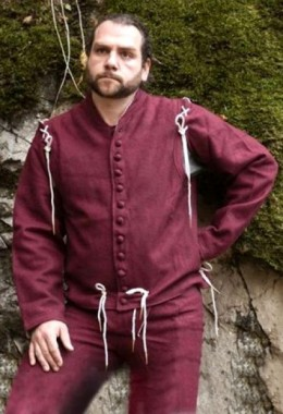 Waist Coat with Loose Arms - Maroon