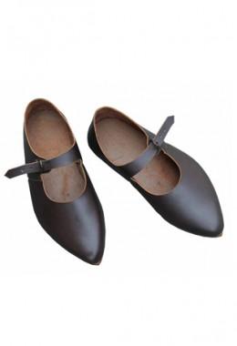 15th Century Medieval Latchet Ladies shoes