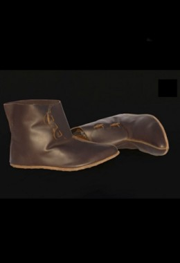 11th Century Norman Cavalry man shoes with 2 wooden Buttons