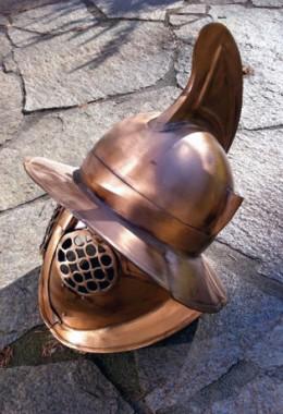 Hoplomachus Helmet in 1.6 mm Bronze