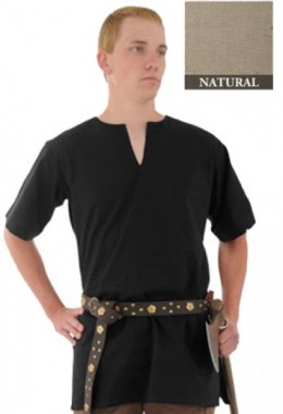 Medieval Tunic made from Handwoven Cotton, Natural