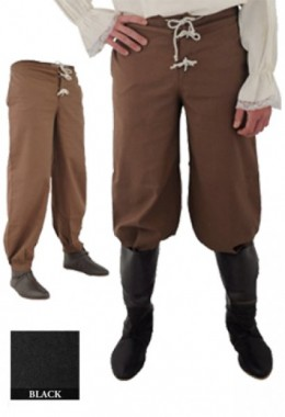 Pants with Elastic Band, Black